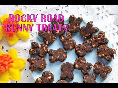 EASTER BUNNY ROCKY ROAD COOKIE TREATS, HANIELA'S