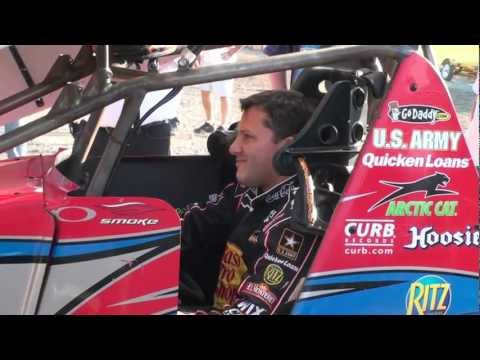 Tony Stewart Puttin' Heat in Engine at Ohsweken Speedway Mon July 30 2012