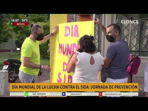 Jornada de prevención en el Día Mundial del Sida en la costanera de Paraná
