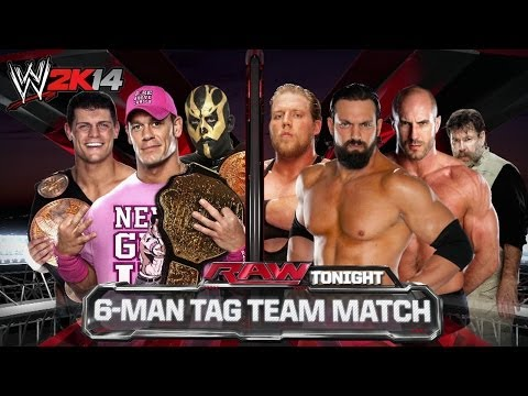 GAMING REMAKE - Raw - 6 Man Tag - WWE 2K14