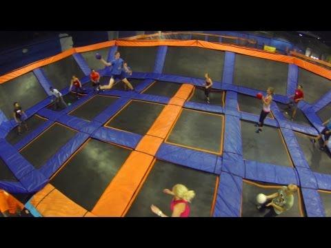 SKY ZONE Trampoline Dodgeball with GoPro Athletes