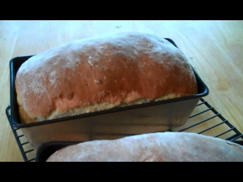 How to Make Amish White Bread- Makes 2 Loaves