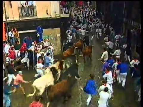 Encierro San Fermin Pamplona del dia  10 7 1992