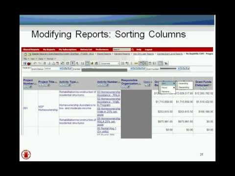 DRGR Reports Module (MicroStrategy) Webinar - 3/6/12