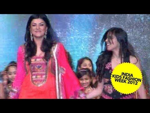 Sushmita Sen Walks The Ramp At India Kids Fashion Week 2012