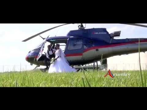 Cortége en Hélicoptère pour Lara et Étienne