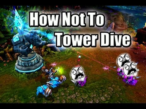 LoL Moments - League of Legends - How NOT To Tower Dive ! - S5 #28