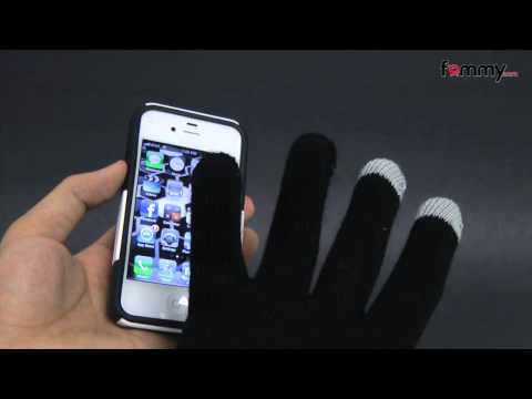 Amzer� Capacitive Touch Screen Knit Gloves-Black