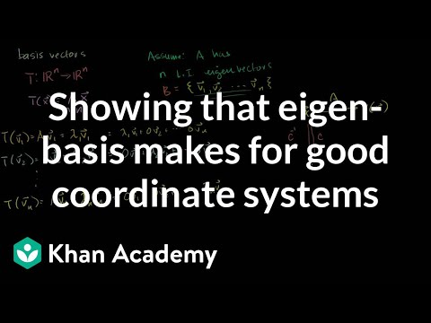 Linear Algebra:  Showing that an eigenbasis makes for good coordinate systems