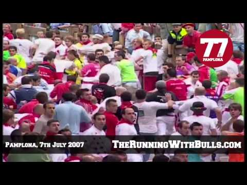 7th July 2007 - The running of the bulls in Pamplona