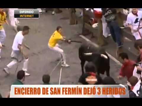 Encierro de San Fermín dejó tres heridos