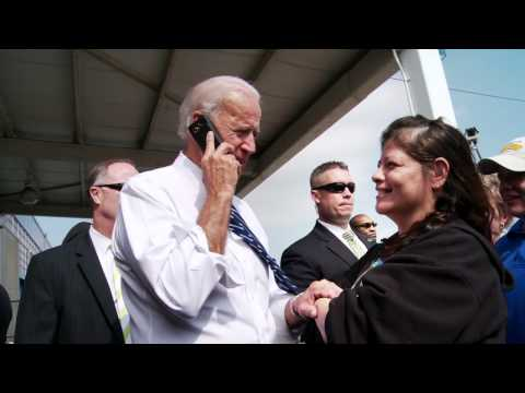 Vice President Biden Speaks on the Phone with a Newly Enlisted Soldier