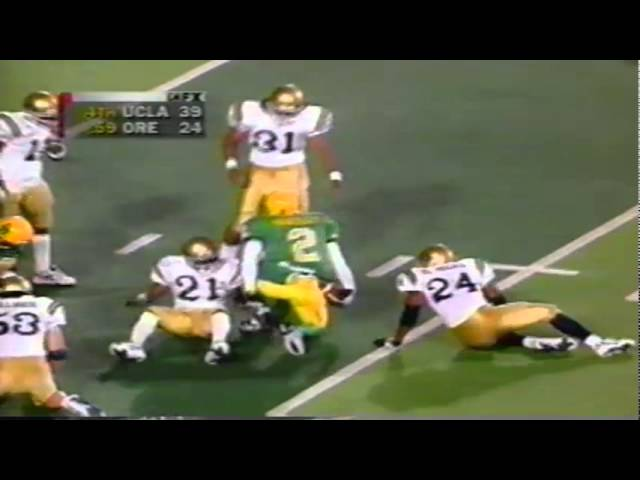 Oregon WR Tony Hartley 30 yard catch vs. UCLA 10-11-1997