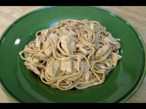 Fettuccine Alfredo with Chicken - Recipe by Laura Vitale - Laura in the Kitchen Ep. 72
