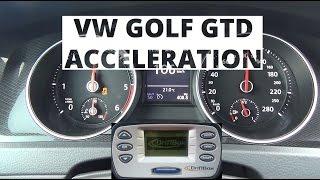 Volkswagen Golf GTD 2.0 TDI-CR 184 KM - acceleration 0-100 km/h