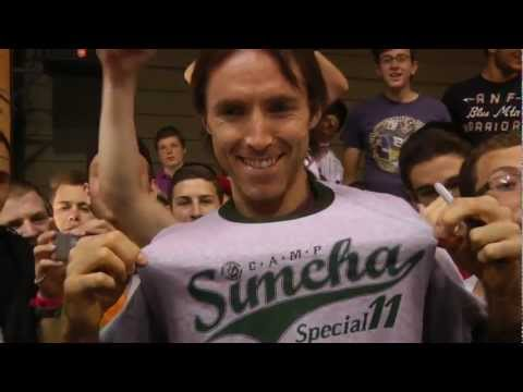 Steve Nash Visits Chai Lifeline-s Camp Simcha Special for Children with Chronic Illness