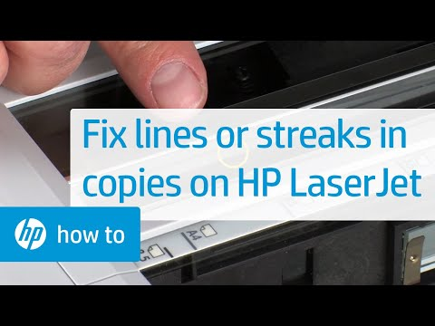 Lines or Streaks When Copying -- HP LaserJet MFPs