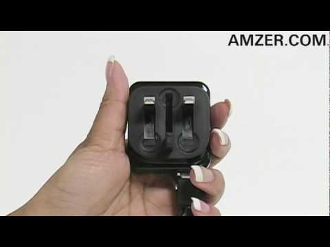 Amzer� Foldable UK Mains USB Adapter