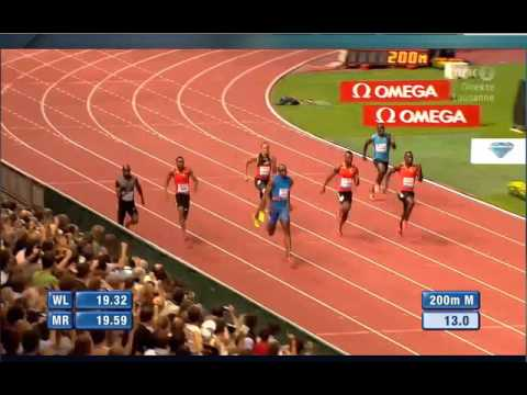 200M Men Usain Bolt 19.58 Lausanne Diamond League 2012