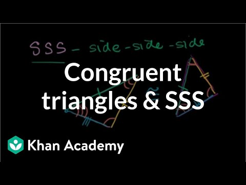 Congruent Triangles and SSS