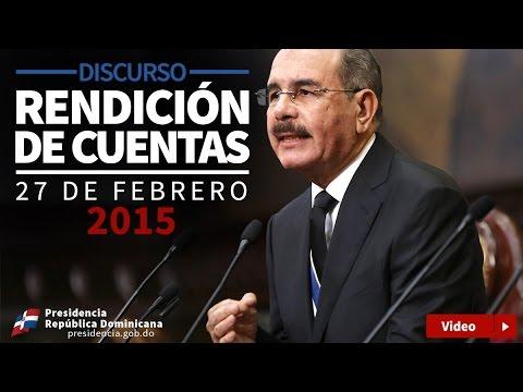 VIDEO: Discurso rendición de cuentas Danilo Medina 27 febrero 2015.