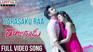 Sarasaku Ra Full Video Song | Raju gadu