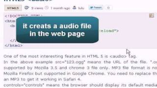 HTML5 Tutorial : HTML5 audio