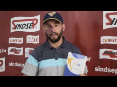 Marcelo, agente de endemias, fala sobre o prêmio InovaSUS vencido pelo Sindsep