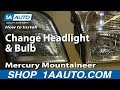 How To Install Replace Change Headlight and Bulb 2002-10 Mercury Mountaineer