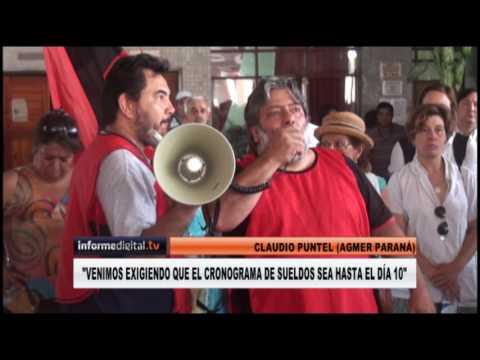 <b>Liquidación de sueldos.</b> Agmer Paraná protestó en el CGE