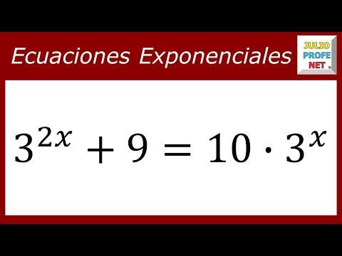 Ecuación exponencial con cambio de variable