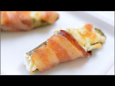 Bacon Wrapped Cream Cheese Filled Jalapenos | Party Bites and ...