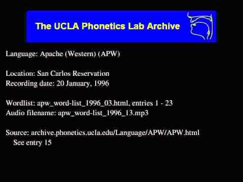 Western Apache audio: apw_word-list_1996_13