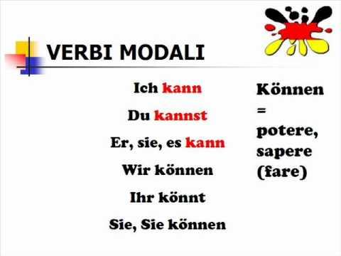 Lezione di tedesco 24- verbi modali parte 1