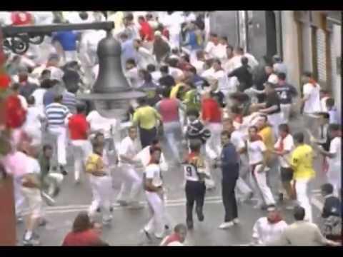 Pamplona del día 14 de julio del 2001 Enciero de San Fermín