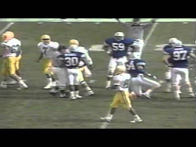 Oregon TE Joe Meerten 15 yard reception vs. BYU 11-04-1989