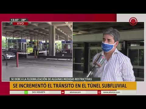 Se incrementó el tránsito en el Túnel Subfluvial