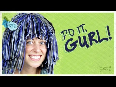Make A Yarn Wig For Your Halloween Costume - Do It, Gurl