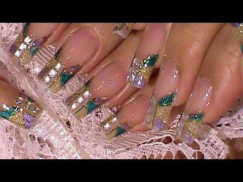 Grammy Awards 2012 Inspired Golden Tape Nails