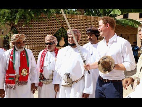 Watch: Prince Harry practices sword wobble in Oman..video