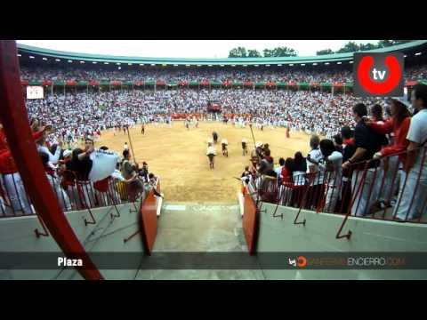 El Encierro en la Plaza de toros de Pamplona