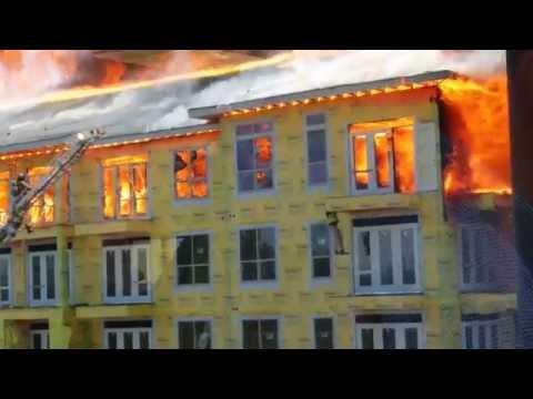 Fire Near AIG Campus