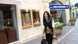 chanel-: Emmannuelle Chriqui Shops the Grove