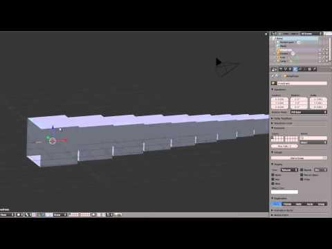 Blender Array módosító videó - Két videó - angol, francia nyelvű