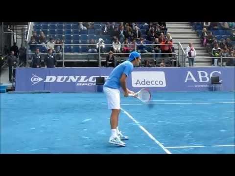 Roger Federer Practice MadridMasters1000 2012