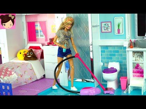 Barbie House Cleaning Morning Routine - Grocery Store Supermarket Toy Shopping - UCXodGGoCUuMgLFoTf42OgIw