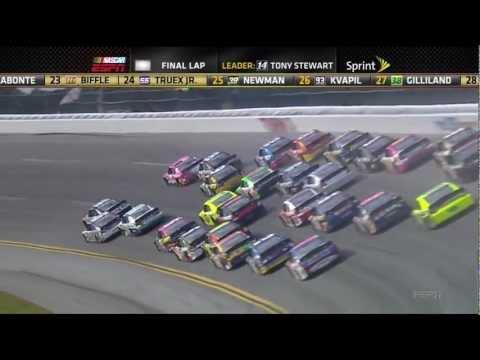 Tony Stewart Flip 2012 Talladega Big one Fall Race