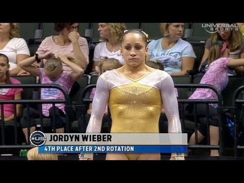 Jordyn Wieber at Nationals night 1 Vault - from Universal Sports