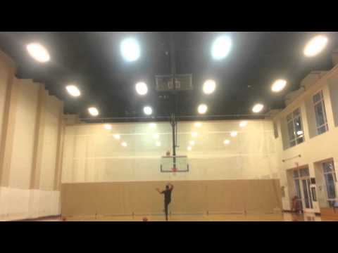 AMAZING Blind Basketball full court shot - @OpieRadio