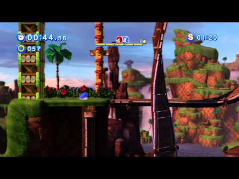 "Sonic Generations (360) - Green Hill: Act 1: ""Knuckles: Horde of Enemies"" Playthrough (S-Rank)"